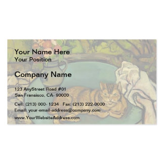 Suzanne Valadon- Raminou & pitcher with carnations Pack Of Standard Business Cards