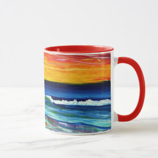 Suzannes Art Sunset Beach Mug