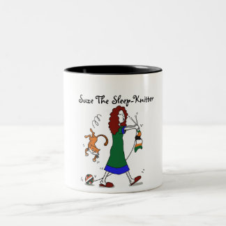 Suze The Sleep-Knitter Two-Tone Mug