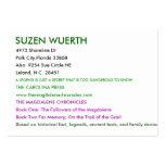 SUZEN WUERTH, 4973 Shoreline Dr, Polk City,Flor... Business Card