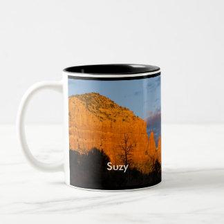 Suzy on Moonrise Glowing Red Rock Mug