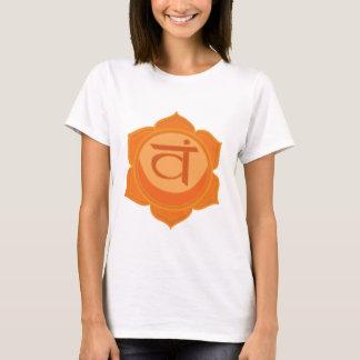 Svadhisthana Sacral Chakra Women's  T-Shirt, White T-Shirt