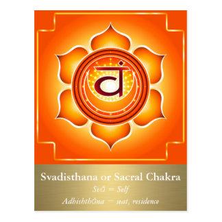 Svadisthana or Sacral Chakra Postcard