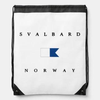 Svalbard Norway Alpha Dive Flag Backpacks