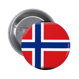 Svalbard (Norway) Flag 6 Cm Round Badge