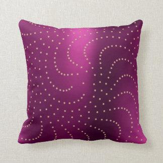 Svarowski Crystals Rose Gold Metallic Ruby Throw Pillow