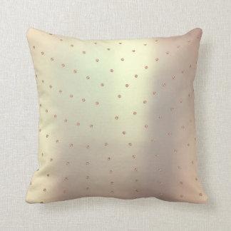 Svarowski Crystals Rose Gold Pink Copper Minimal Throw Pillow