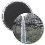 Svartifoss waterfall, Iceland 6 Cm Round Magnet