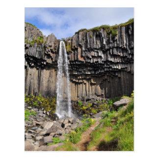 Svartifoss waterfall, Iceland Postcard