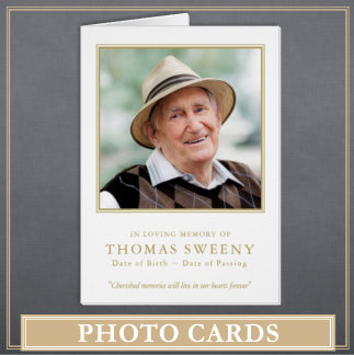 Photo Funeral Thank You Cards
