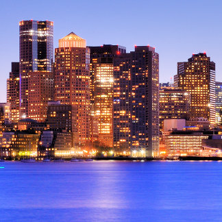 View of Financial District of downtown Boston