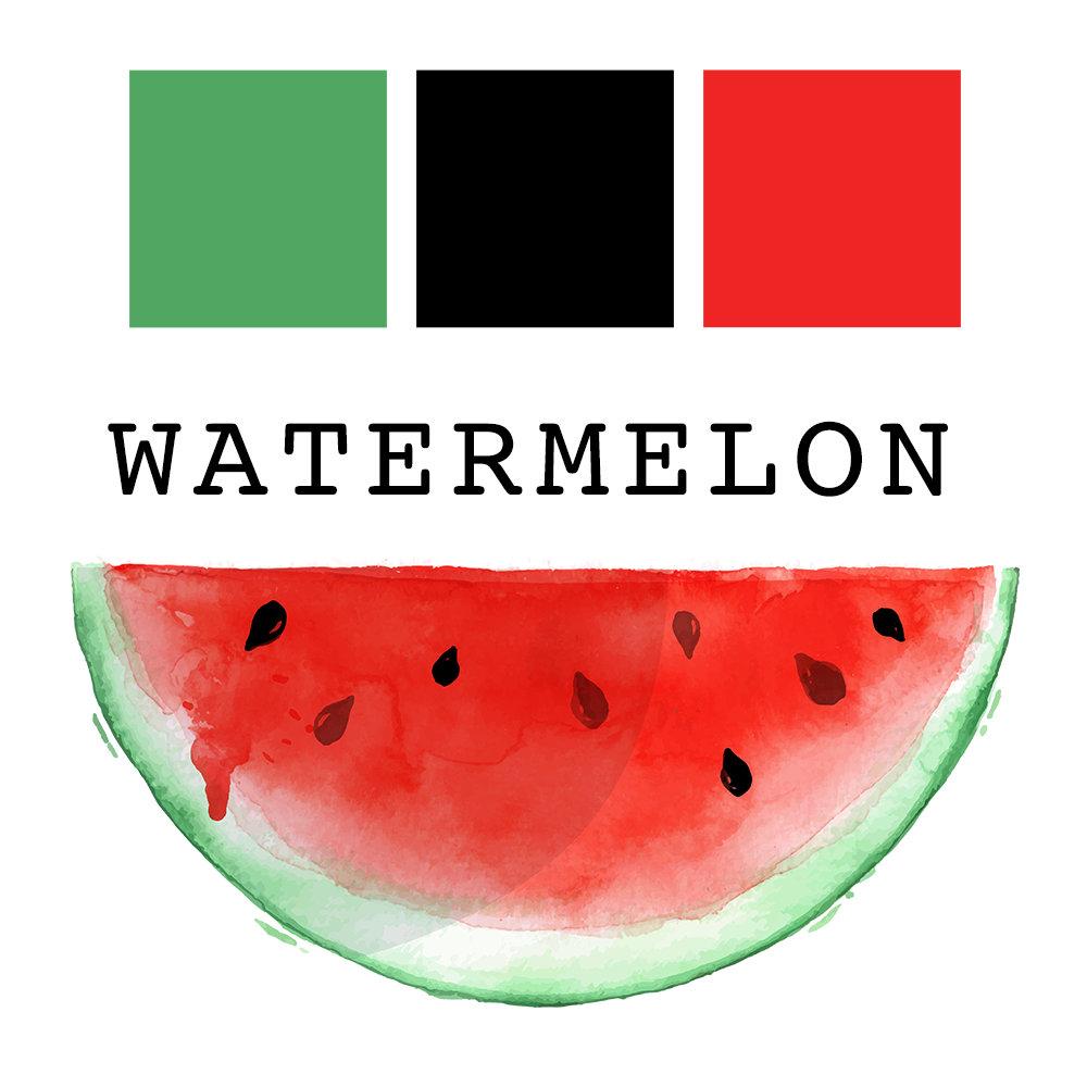 Watermelon Wedding Summer Watercolor