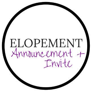 Elopement & Announcement