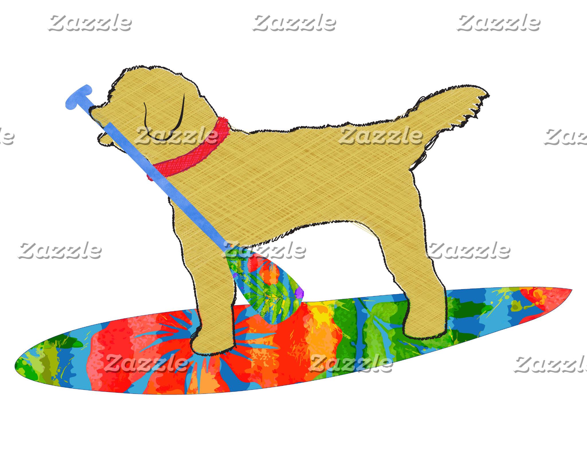 SUP Board Golden Doodle