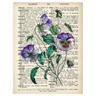 Art Prints: VINTAGE FLORAL ALPHABET