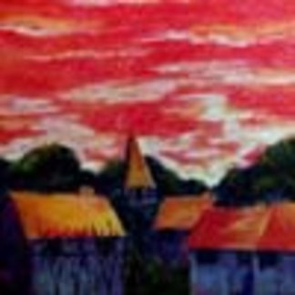 Red Sky, Blue Village