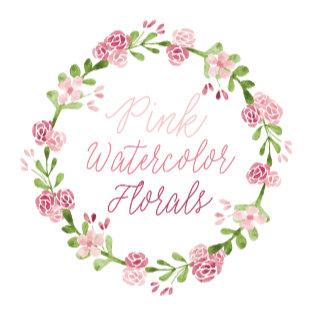 Pink Watercolor Florals