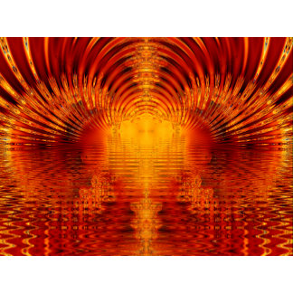 Golden Red Tunnel of Light