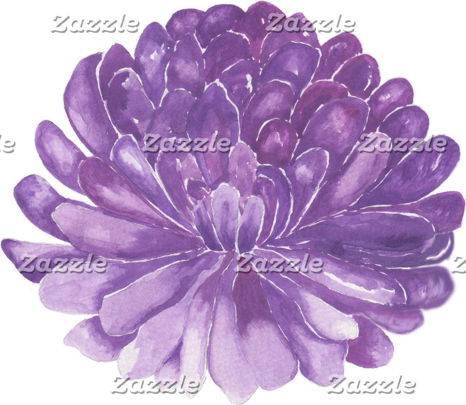 Lavender Flower Design/Watercolor
