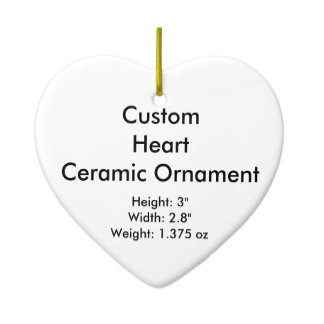 Custom Ceramic Flat Hanging Ornaments