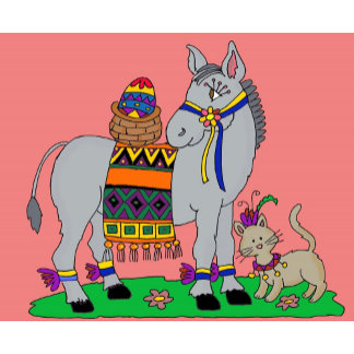 Donkey Carries the Pysanka