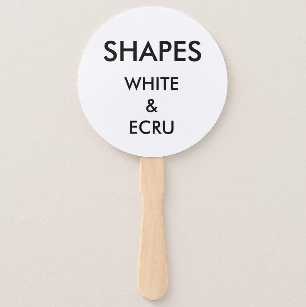 Fan Shapes (White & Ecru)