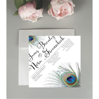 Peacock Wedding Stationary