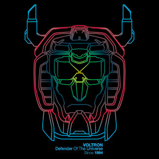 Voltron | Pilot Colors Gradient Head Outline