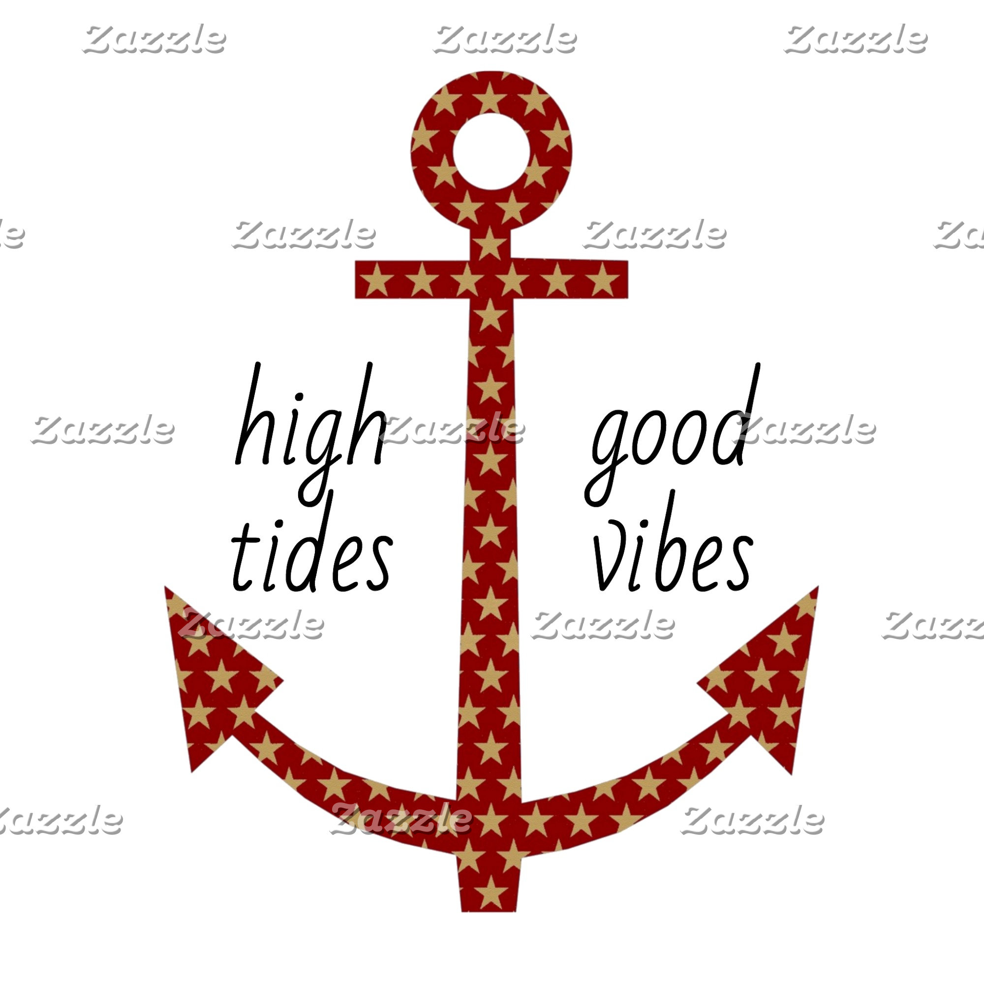 High Tides, Good Vibes Red Star Anchor