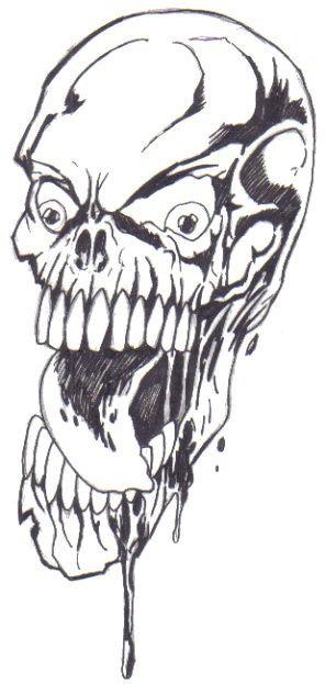 Skull Art Buttons