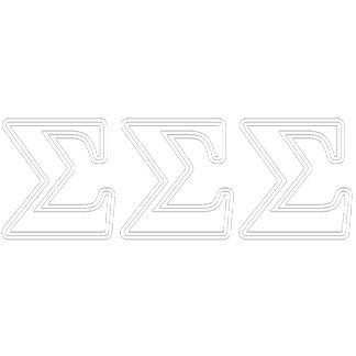 Sigma Sigma Sigma White Letters