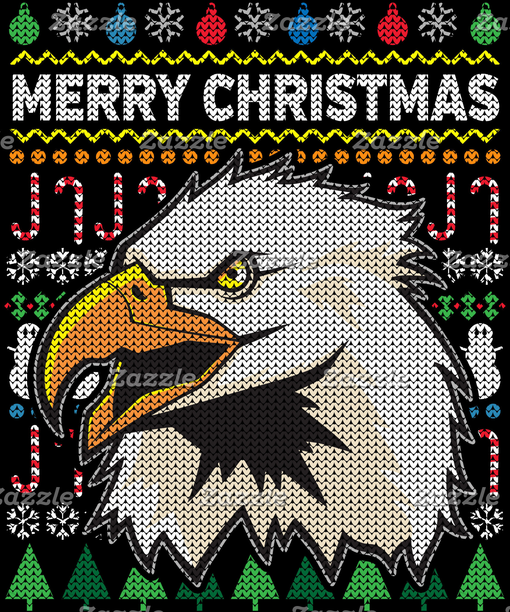 Eagle Ugly Christmas Sweater