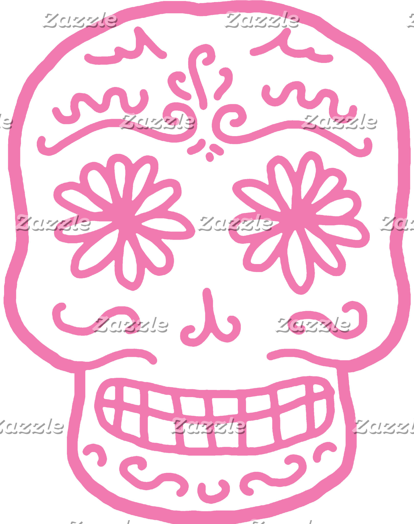 Pink Day of the Dead Skull T-shirts and Gifts