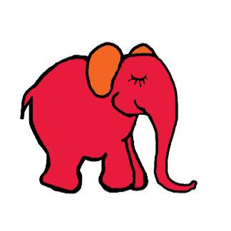 Happy Cartoon Elephants Line