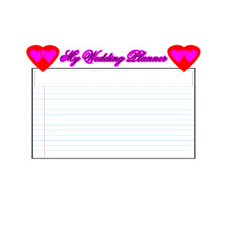 ALL Calendar My Wedding Planner2  Magenta jGibney
