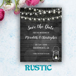 String Twinkle Lights Rustic Country Wedding