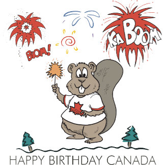 Happy Birthday Canada T Shirt Gifts Cards