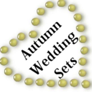 Fall Autumn Wedding Sets
