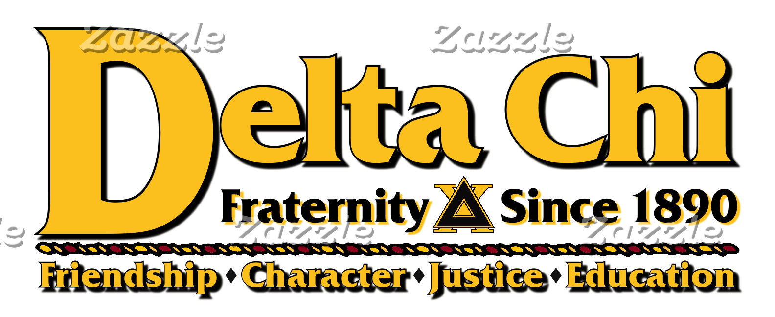 Delta Chi Name and Logo Gold