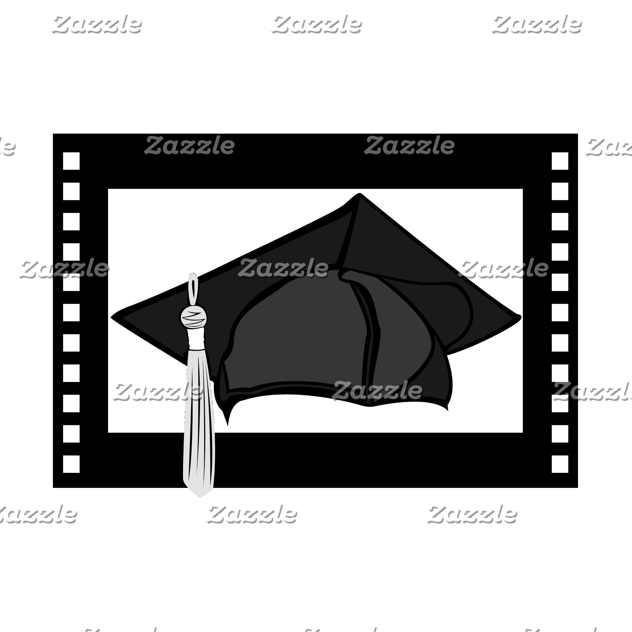 Black Cap Silver Tassel