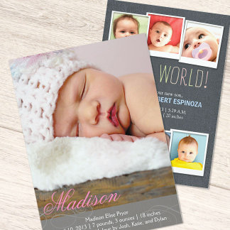 Birth Announcements and Postage