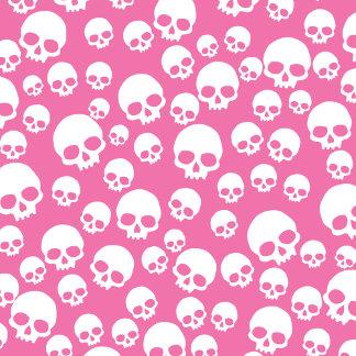Cute Pink Random Skull Pattern
