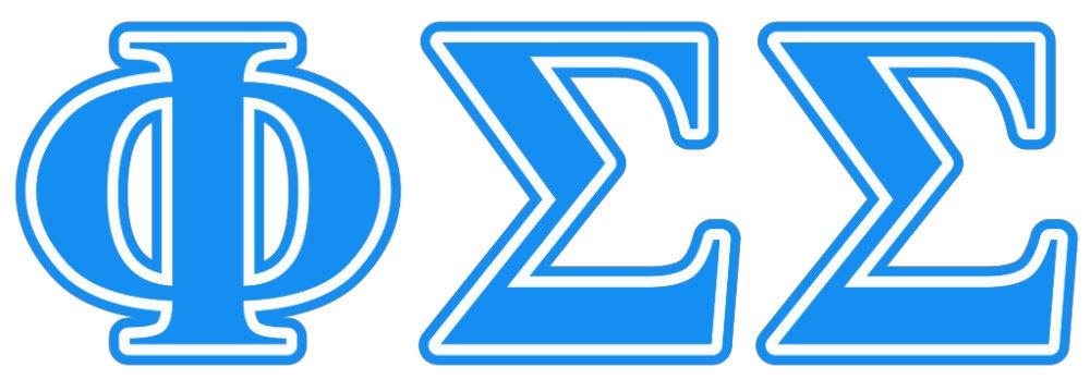 Phi Sigma Sigma Blue Letters