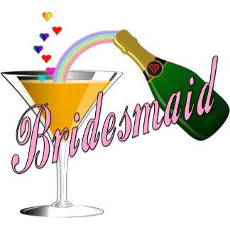 Champagne Toast Bridesmaid Pink