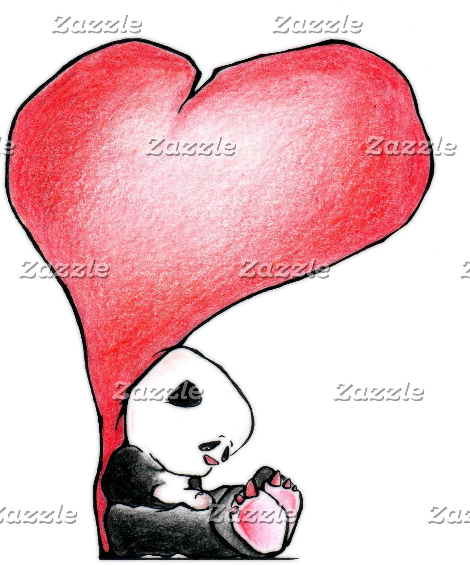 Panda - heart
