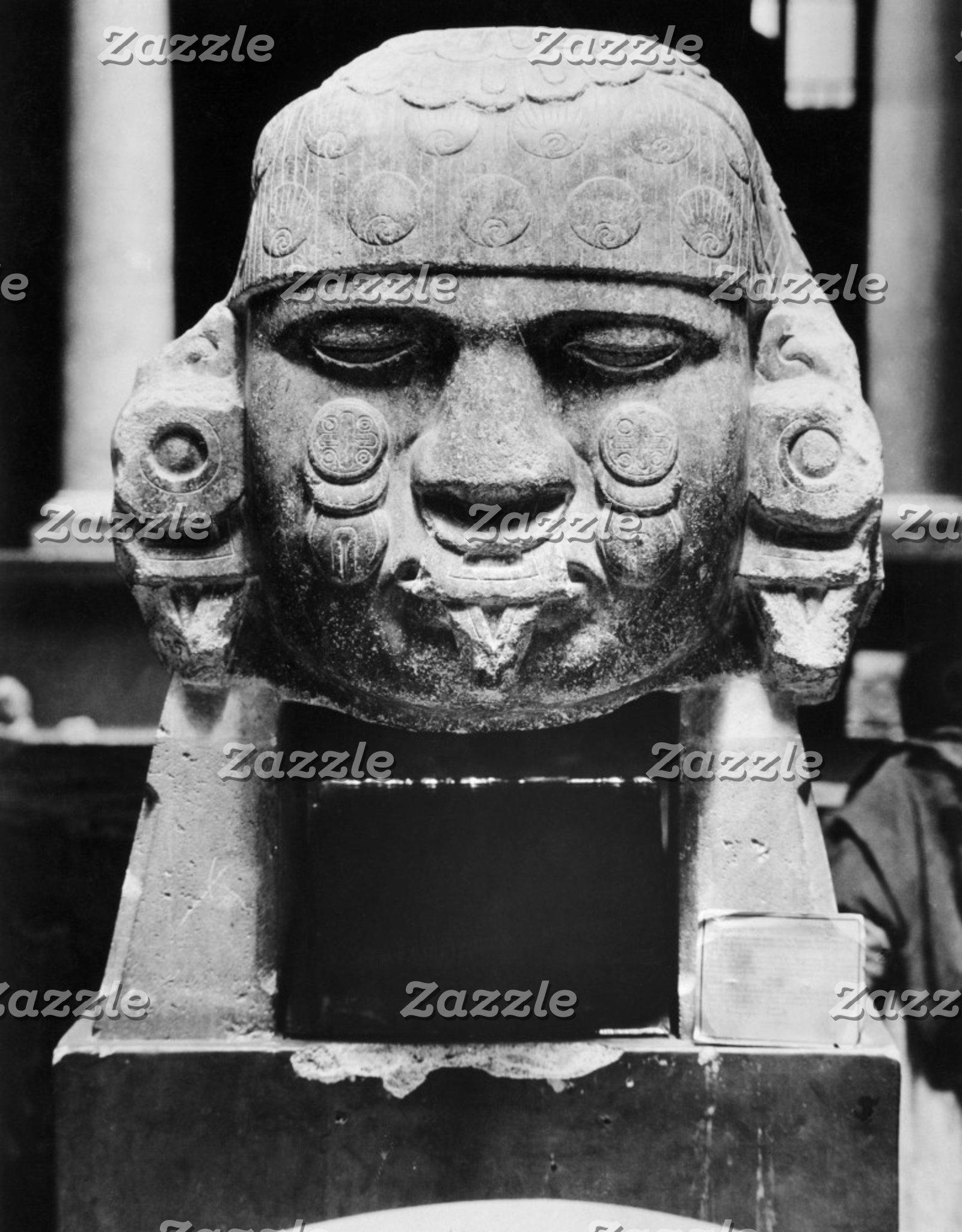 Ancient Aztec Stone Head