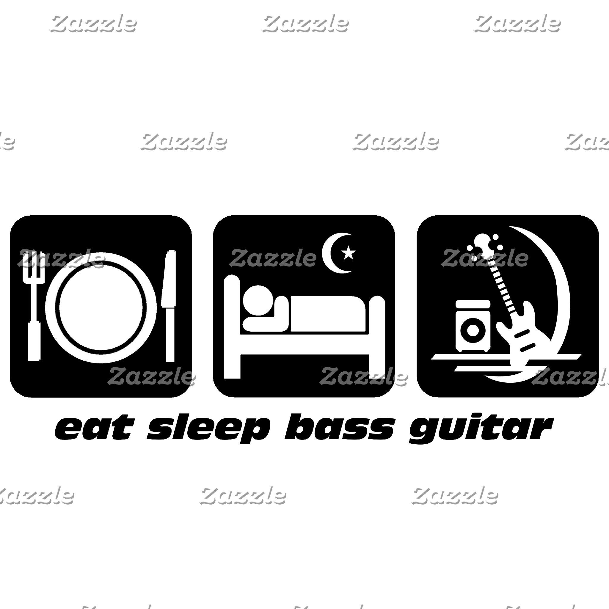 eat sleep bass guitar