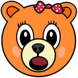 Orange Girl Bear