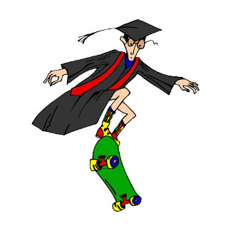 Skateboarding to graduation
