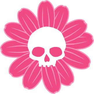 Pink Skull Flower